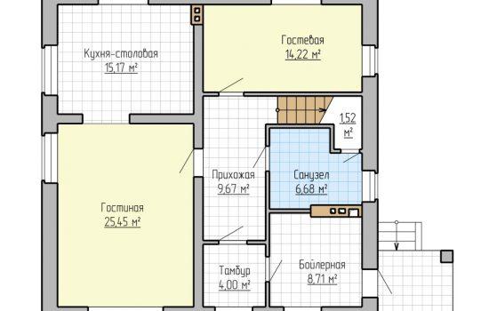 План 1-го этажа - 175м2