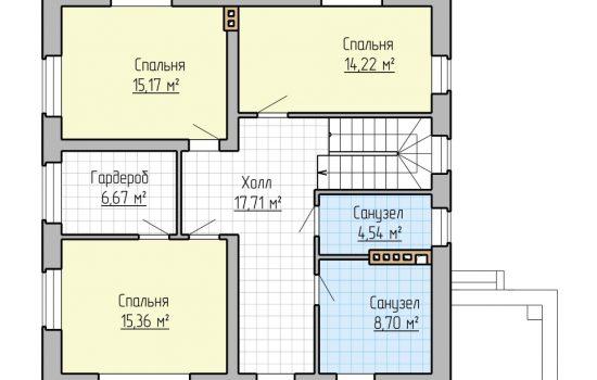 План 2-го этажа - 175м2