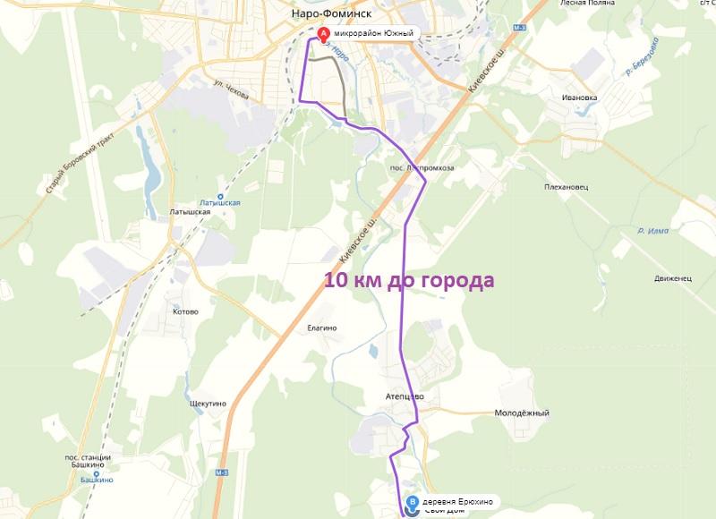 Расстояние до города Наро-Фоминск