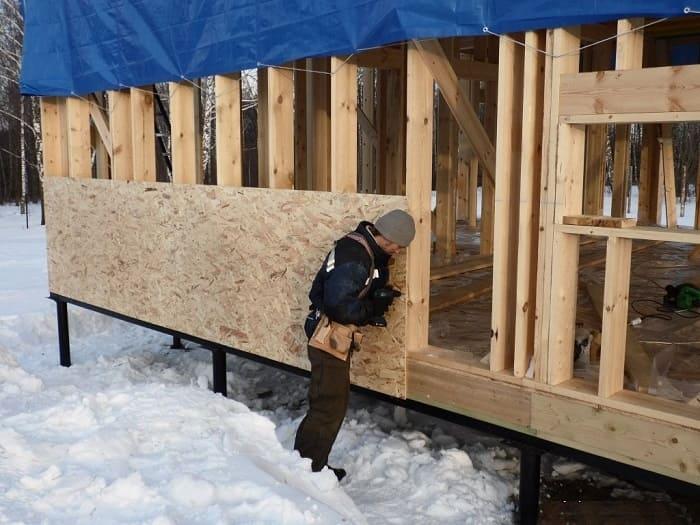 Строительство дома зимой - какие работы можно выполнить зимой?