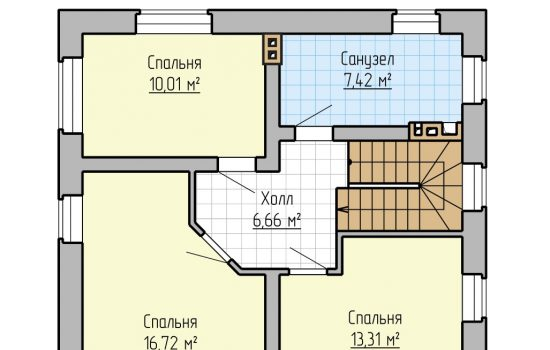План 2-го этажа - 105м2