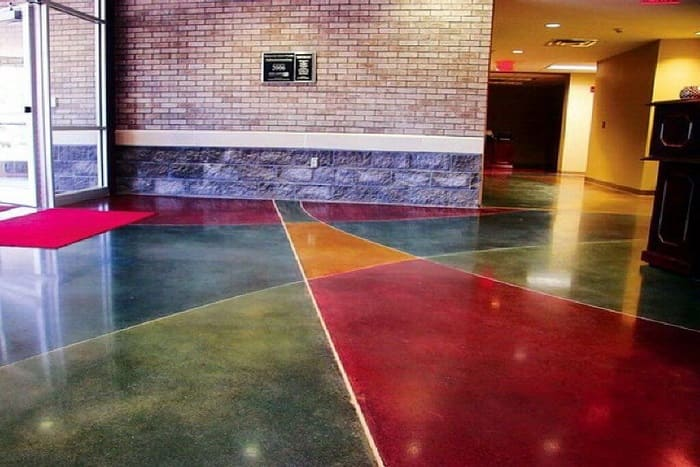 Цементно-акриловые полы